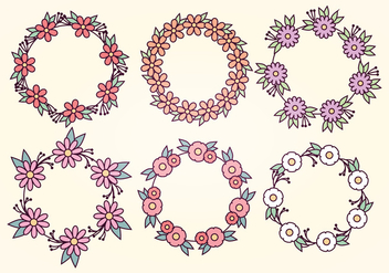 Vector Floral Wreaths - Free vector #391249