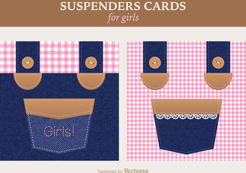 Free Girly Suspenders Vector Greeting Card - Free vector #391389