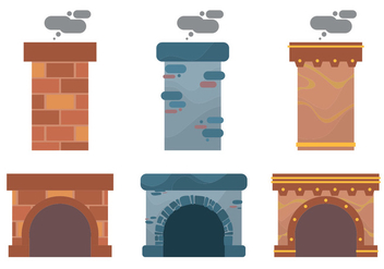 Chimney Design Vector Set - бесплатный vector #391429