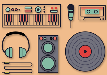 Free Musical DJ Vectors - бесплатный vector #391469