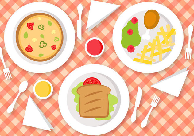 Free Lunch Vector - бесплатный vector #391479