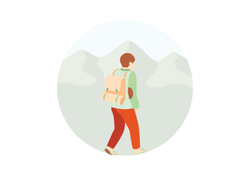 Hiking Illustration - vector gratuit #391529
