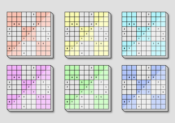 Sudoku Square Board - Free vector #391619