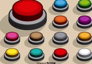 Collection Of Vector Colorful Arcade Buttons - Kostenloses vector #391719