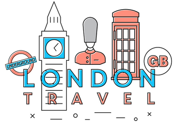 Free London Travel Vectors - бесплатный vector #391759