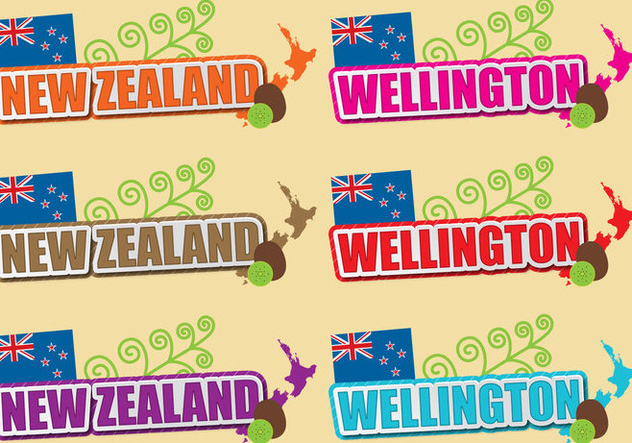 New Zealand And Wellington Titles - vector gratuit #391779