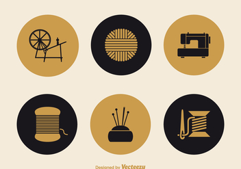 Free Knitting And Needlework Vector Icons - vector gratuit #391799