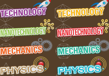 Technology Titles - vector gratuit #391819