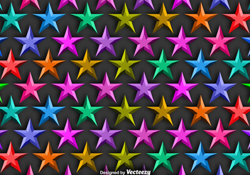 Vector Background With Colorful 3D Stars Seamless Pattern - vector #391839 gratis