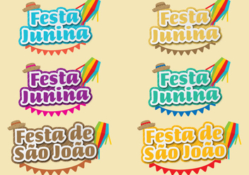 Festa Junina Titles - Free vector #391899