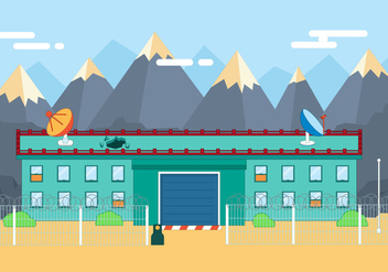 Free Flat Secure Building Vector Illustration - vector gratuit #392019