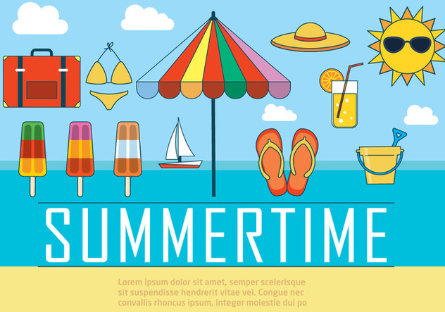 Free Summer Vector Illustration - бесплатный vector #392029