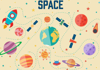 Free Space Vector Illustration - бесплатный vector #392039