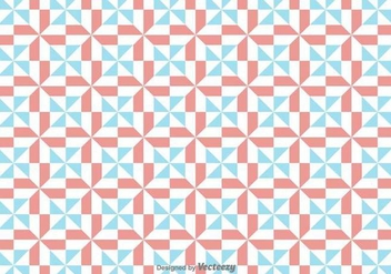 Vector Simple Pattern With Red And Blue Geometric Figures - vector gratuit #392069