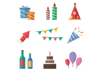 Free Party Icons Vector - vector #392209 gratis