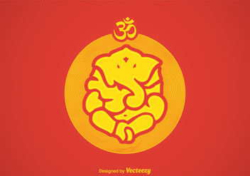 Free Vector Ganpati Illustration - Free vector #392259