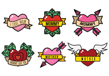 Mom Tattoo Vector - Kostenloses vector #392289