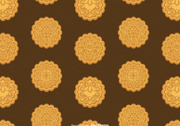 Free Mooncake Vector Seamless Pattern - Free vector #392299