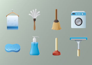 Free Cleaning Equipment Vector - Kostenloses vector #392319