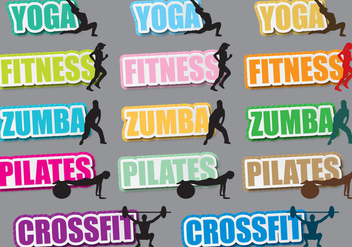 Fitness Titles - vector gratuit #392359