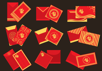Red Packet Icons - vector gratuit #392459