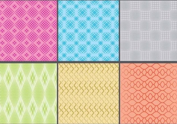 Colorful Crosshatch Patterns - vector gratuit #392469
