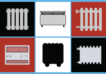Radiator Vector Set 4 - Kostenloses vector #392519