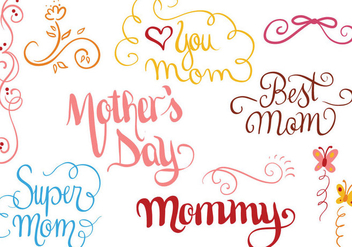 Free Mother's Day 2 Vectors - vector gratuit #392609