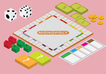 Free Isometric Monopoly Games Vector - Free vector #392659