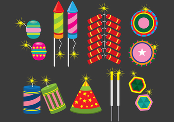 Fire Cracker Icons - vector #392669 gratis
