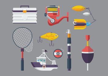 Free Fishing Equipment Vector - бесплатный vector #392699