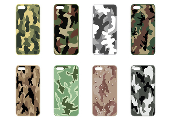 Phone Case Camo Vector - Free vector #392769