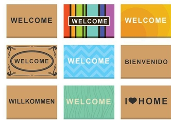 Free Welcome Mat Vector - vector gratuit #392779