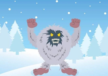 Free Yeti Illustration - Free vector #392799