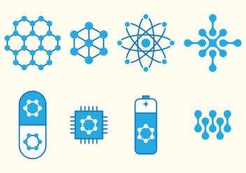 Nanotechnology Set Icons - Free vector #392829