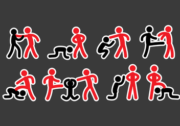 Bullying Icons - vector gratuit #392839