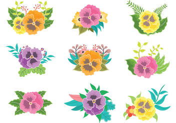 Free Pansy Icons Vector - Free vector #392899