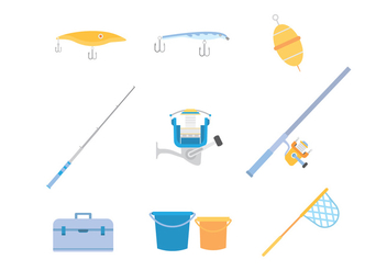 Free Fishing Icons Vector - vector #392929 gratis