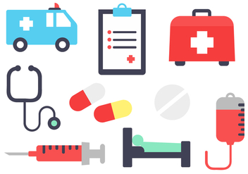Free Hospital Elements Vector - Kostenloses vector #393009