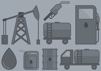 Oil Industry Icon - vector #393069 gratis
