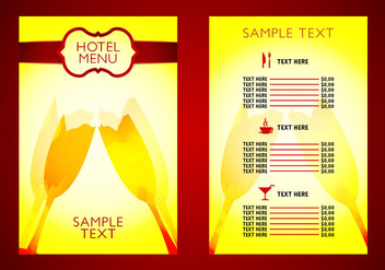 Hotel Menu Professional Template Vector - бесплатный vector #393149