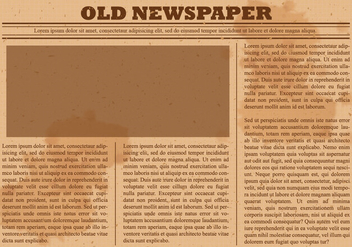 Old Newspaper Vector - vector #393159 gratis