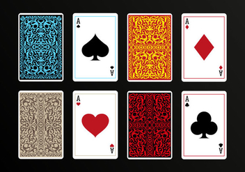 Playing Cards Back Vectors - vector gratuit #393209