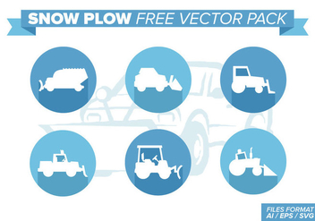 Snow Plow Free Vector Pack - Kostenloses vector #393269