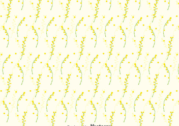 Mimosa Seamless Pattern Background - бесплатный vector #393289