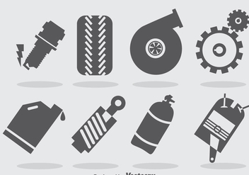Turbo Engine Icons Vector - vector gratuit #393299