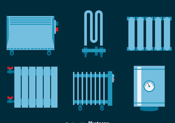 Heating Radiator Vector Set - vector #393419 gratis