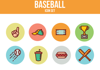 Free Baseball Icons - vector #393449 gratis