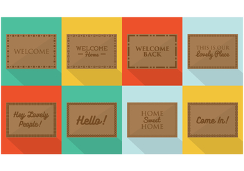Free Welcome Mat Designs Vector - vector gratuit #393479
