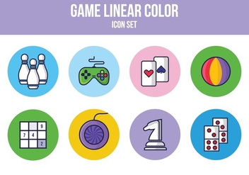 Free Game Linear Icon Set - бесплатный vector #393499